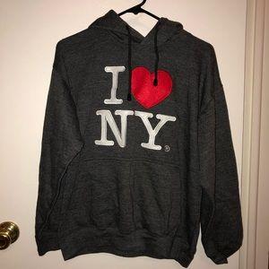 Tops - I ❤️NY Sweatshirt Dark Gray Women's Small